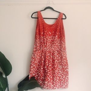 Joe Fresh Red Leopard Pattern Dress